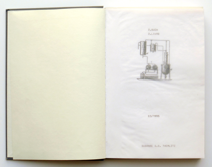 'Book 2 / Accumulations (Ansammlungen)', typewriting, off-print, watercolour and graphite on paper, 24,5 x 16,5 cm, 1995