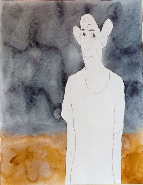 from the series 'The Egomaniacs & The Imperfects', graphite and watercolour on paper, 64 x 50 cm, 2000