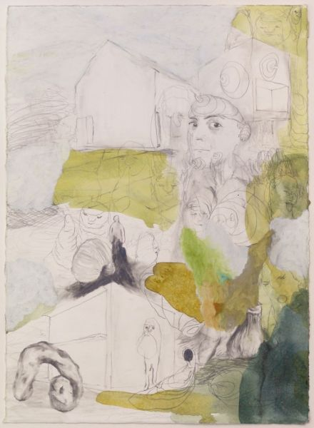 from the series 'The Vertebral & the Invertebrate II', 42 x 29,5 cm, graphite and oil pastel on paper, 2007