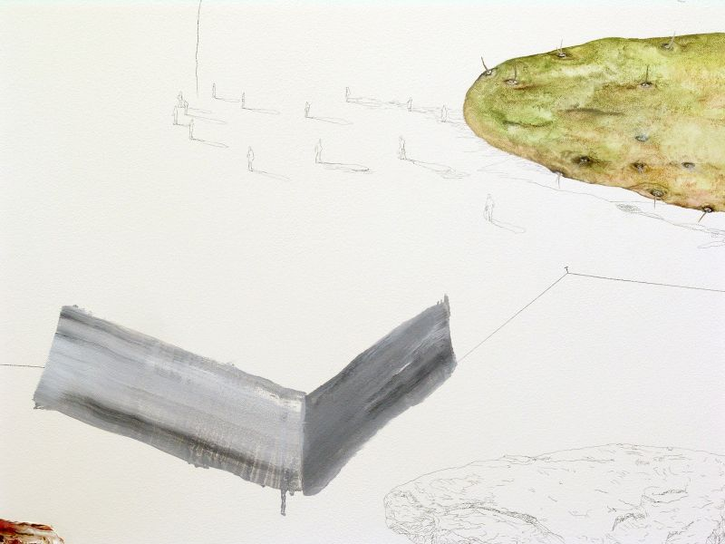 from the series 'Oh,...' (detail), oil, watercolour and graphite on canvas, 2012