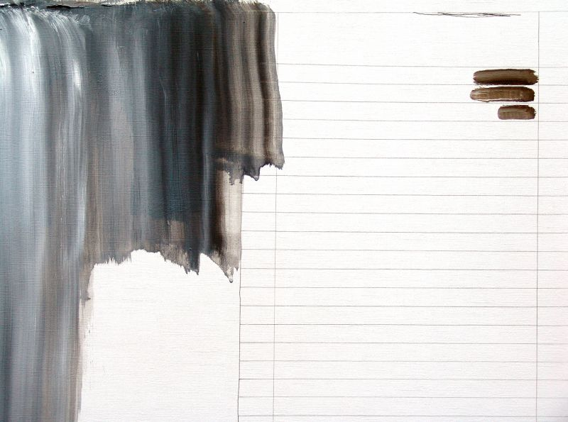 'Down there' (detail), oil and graphite on paper, 2013