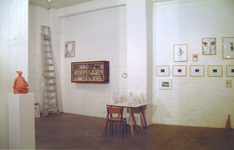 'From the Private Life of the Parasites, Outsiders and Borderes', partial installation view, Carla Stützer Gallery, Cologne (DE) 2001