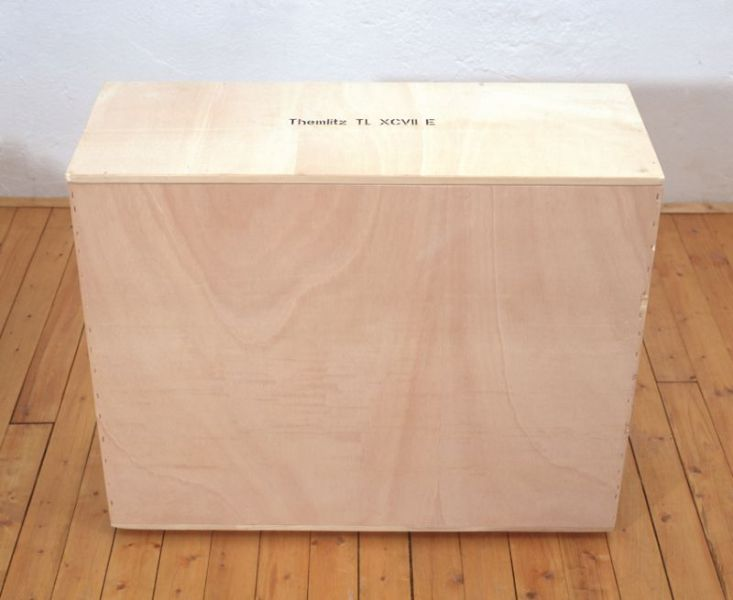 from the series 'Portable Landscapes', plaster, wooden box and handles, 88 x 71 x 43 cm, 1998