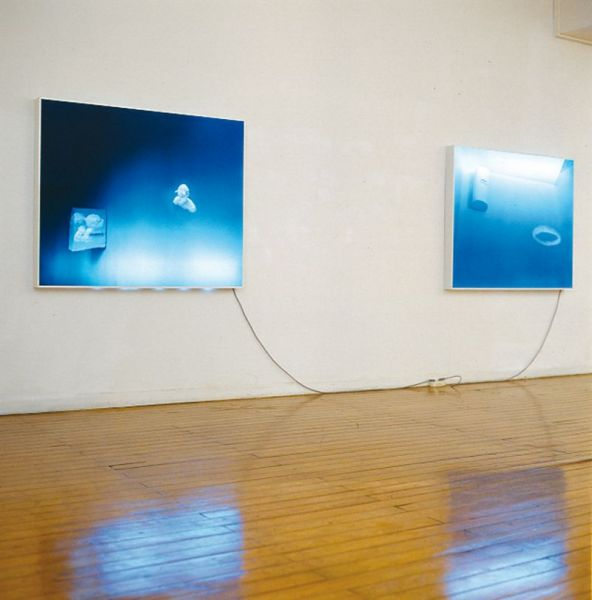 untitled, diasec-lightboxes, 124 x 154 x 10 cm each, 1995, exhibition view Luís Serpa Projectos Gallery, Lisbon (PT)